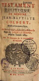 Thumbnail image for The Political Testament Of M. Jean-Baptiste Colbert