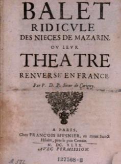 Thumbnail image for Ballet Ridicule Des Nièces de Mazarin, ou Leur Théâtre Renversé En France